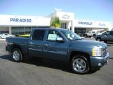 2009 Blue Granite Metallic Chevrolet Silverado 1500 LT Crew Cab #18170306