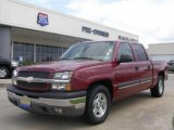 2005 Sport Red Metallic Chevrolet Silverado 1500 LS Crew Cab #18160730