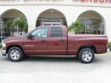 2003 Dark Garnet Red Pearl Dodge Ram 1500 ST Quad Cab #1818171
