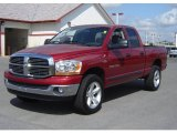 2006 Inferno Red Crystal Pearl Dodge Ram 1500 SLT Quad Cab 4x4 #18161659