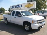 2008 Summit White Chevrolet Silverado 1500 LT Extended Cab #18225879