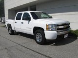 2008 Summit White Chevrolet Silverado 1500 LT Crew Cab 4x4 #18231440