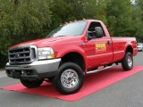 2002 Red Clearcoat Ford F250 Super Duty XLT Regular Cab 4x4 #18228247