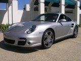 2007 Arctic Silver Metallic Porsche 911 Turbo Coupe #18222526
