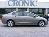 2007 Galaxy Gray Metallic Honda Civic EX Sedan #18228983