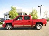 2008 Victory Red Chevrolet Silverado 1500 LTZ Crew Cab 4x4 #18301267