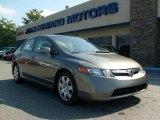2007 Galaxy Gray Metallic Honda Civic LX Sedan #18368599