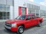 2007 Victory Red Chevrolet Silverado 1500 LS Crew Cab #18368607