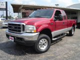 2002 Toreador Red Metallic Ford F250 Super Duty XLT SuperCab 4x4 #18368293