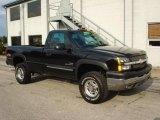2003 Black Chevrolet Silverado 2500HD LS Regular Cab 4x4 #18400503
