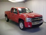 2007 Victory Red Chevrolet Silverado 1500 LT Extended Cab 4x4 #18397132
