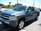 2009 Blue Granite Metallic Chevrolet Silverado 1500 LT Extended Cab #18387562