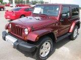 2010 Red Rock Crystal Pearl Jeep Wrangler Sahara 4x4 #18392888
