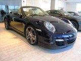 2008 Midnight Blue Metallic Porsche 911 Turbo Cabriolet #18384795