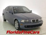 2001 Steel Blue Metallic BMW 3 Series 325i Coupe #18439865