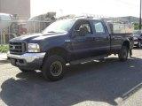 2003 True Blue Metallic Ford F250 Super Duty XLT Crew Cab 4x4 #18446591