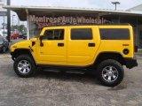 2003 Yellow Hummer H2 SUV #18513994