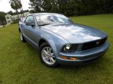 2005 Windveil Blue Metallic Ford Mustang V6 Deluxe Coupe #18494566