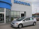 2007 Alabaster Silver Metallic Honda Civic LX Sedan #18502244