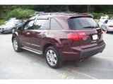 2008 Dark Cherry Pearl Acura MDX Technology #18574244