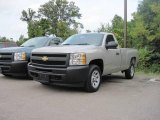 2009 Silver Birch Metallic Chevrolet Silverado 1500 Regular Cab #18577982