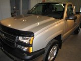 2006 Silver Birch Metallic Chevrolet Silverado 1500 Work Truck Regular Cab 4x4 #18575469
