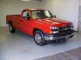 2006 Victory Red Chevrolet Silverado 1500 Work Truck Regular Cab #18575622