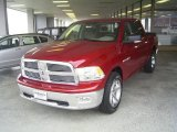 2010 Inferno Red Crystal Pearl Dodge Ram 1500 Big Horn Crew Cab #18579281