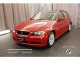 2007 Crimson Red BMW 3 Series 328xi Sedan #18560985
