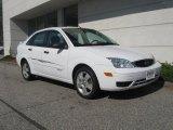 2005 Cloud 9 White Ford Focus ZX4 SE Sedan #18572722