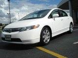 2007 Taffeta White Honda Civic LX Sedan #18569371