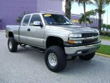 2000 Light Pewter Metallic Chevrolet Silverado 1500 LS Extended Cab 4x4 #18642641