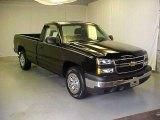 2006 Black Chevrolet Silverado 1500 Work Truck Regular Cab #18640948
