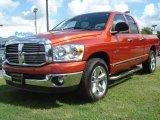 2008 Sunburst Orange Pearl Dodge Ram 1500 Big Horn Edition Quad Cab #18633566