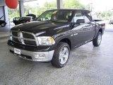 2009 Brilliant Black Crystal Pearl Dodge Ram 1500 Big Horn Edition Crew Cab 4x4 #18644576