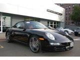 2008 Basalt Black Metallic Porsche 911 Carrera 4S Cabriolet #18576475