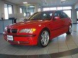 2003 Electric Red BMW 3 Series 330i Sedan #18787813