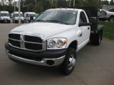 2008 Bright White Dodge Ram 3500 ST Regular Cab Chassis #18789501