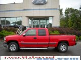 1999 Victory Red Chevrolet Silverado 1500 LS Extended Cab 4x4 #18843259