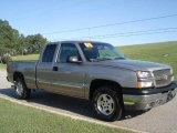 2003 Light Pewter Metallic Chevrolet Silverado 1500 LS Extended Cab 4x4 #18855108