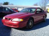 1995 Laser Red Metallic Ford Mustang V6 Coupe #1884618