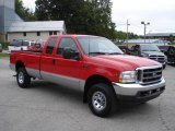 2002 Red Clearcoat Ford F250 Super Duty XLT SuperCab 4x4 #18860400