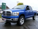 2007 Electric Blue Pearl Dodge Ram 1500 SLT Quad Cab 4x4 #18841394