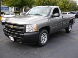 2009 Graystone Metallic Chevrolet Silverado 1500 Regular Cab #18901953