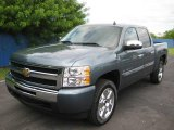 2009 Blue Granite Metallic Chevrolet Silverado 1500 LT Crew Cab #18907580