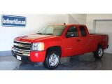 2009 Victory Red Chevrolet Silverado 1500 LT Extended Cab 4x4 #18918841