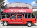 2005 Victory Red Chevrolet Silverado 1500 LS Crew Cab #18998060