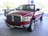 2007 Inferno Red Crystal Pearl Dodge Ram 1500 SLT Quad Cab 4x4 #19012709
