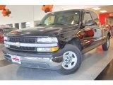 2002 Onyx Black Chevrolet Silverado 1500 LS Extended Cab #19075024