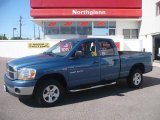 2006 Atlantic Blue Pearl Dodge Ram 1500 SLT Quad Cab 4x4 #19071348